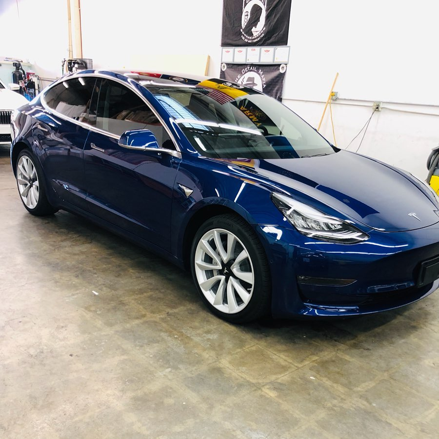 ceramic pro on blue tesla